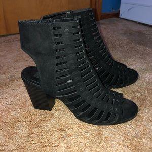 open toe heels!